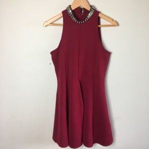 Red Holiday Topshop Dress